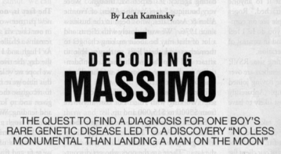 Decoding Massimo by Leah Kaminsky