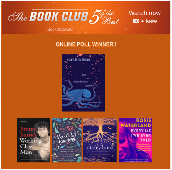 Danielle Binks' #LoveOzYA Anthology voted in 'Five of the Best' ABC Book Club finale episode