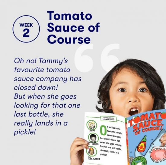 Moya Simons 'Tomato Sauce of Course!' is a Big W 'Free Books for Kids'