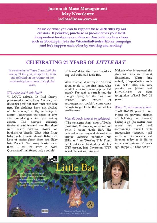 Jacinta di Mase Management May Newsletter