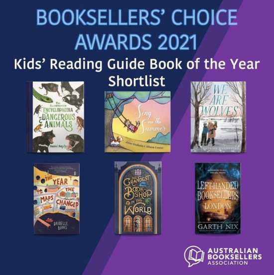 Danielle Binks shortlisted Booksellers' Choice Awards for Kids' Reading Guide Book of the Year!